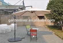 Outdoor garden umbrella steel hanging large patio umbrella
