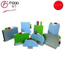 CP3040 good quality 3 pcs round folding plastic cutting board