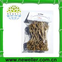 2014Wholesale 400mm green color double bamboo loop skewer bamboo loop skewer With FDA
