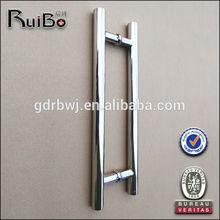 Double sided mirror door handle
