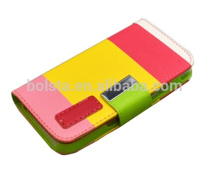 Stylish Deluxe Dual-Use flip case cover for iphone 5 case