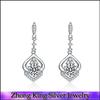 925 Sterling Silver Jewelry with CZ Wedding Jewelry Linear Earrings
