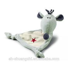 cozy super soft plush custom animal shaped baby Rock Star Baby Comforter - Rat