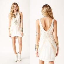 2014 Fashion Style Deep V Back Summer Strap Lady's Sexy Dress
