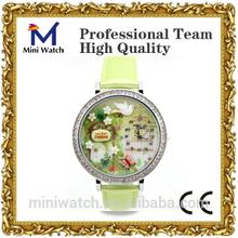 2013 fashionable women watch korean design custom secret garden with diamond wrist watch