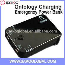 Dual USB Port Hand crank Universal Power Bank Mobile Charger 5000 mah