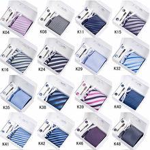 Wholesale 6pcs/set Gift box Plaid Stripe Neckties Men's Tie Sets