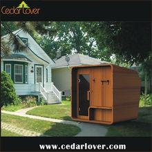Outdoor steam cabin sauna house