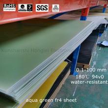 aqua green fiber glass board fireproof insulation board 3240 fr4 g10 fr5 g11 made in china