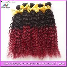 100% Human Hair fashion red color remy malaysian human hair
