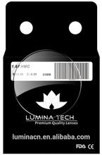 HI-INDEX 1.67 High-index Aspheric Optical Lens (FDA,CE) optical lens