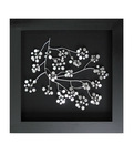 Decoration shadow box metal flowers for crafts