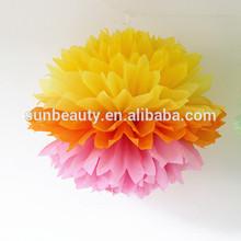 code pom poms, handmade paper flower, paper art party supplies