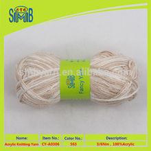 china popular selling 100gram balls 3 ply fixed acrylic yarn
