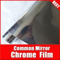 TSAUTOP car chrome vinyl wrap\stickers chrome car 3m sticker decal\chrome / vinyl film Silver