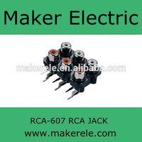 6 ports jack mini jack RCA-607