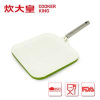 2015 28CM Aluminum nonstick ceramic square fry pan