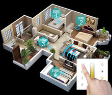 wall dimmer Touch Panel Controller for Dimming,CT,RGB