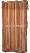 ODB7360 American style organza curtain embroidery curtain