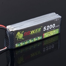 Higher quality 11.1V 3S 5200mah 30C Lipo Battery Power rechargeable battery