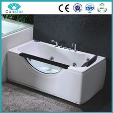 2015 new hot design factory cheap price ABS material white strong whirlpool bathtub