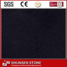 Pure Black Crystal Quartz Stone for Internal Decorations QZ872