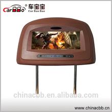 2014 7''AV headrest monitor Digital Panel PAL/NTSC System 1 Video Input ,