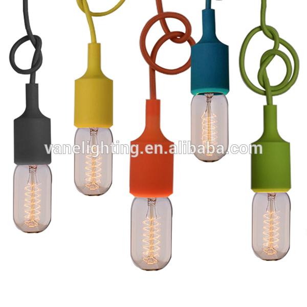 HOT Sales Colored E27 Silicon Pendant Light Socket