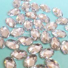 Wholesale 6*8 8*10 10*14 13*18 18*25 Elliptic Shaped Hot Fix Acrylic Rhinestones