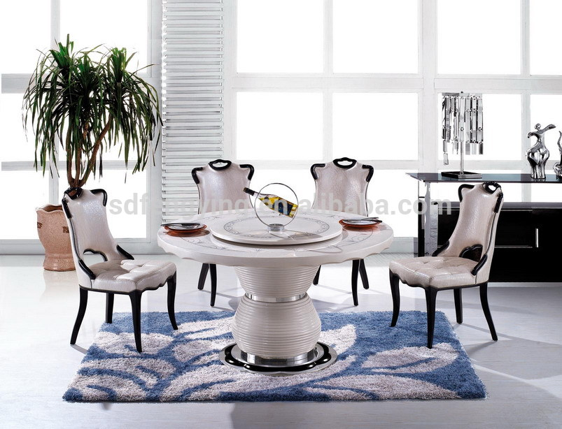 ... Dining Table > T-6306 cheap white marble top dining table sets with