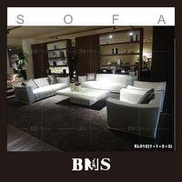 Meuble white full leather sofa living room