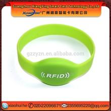 China charm waterproof rfid logo printing F08 silicon wristbands