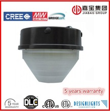 DLC LED canopy light 60w 75w DLC listed white approved certified IP65 ceiling mount parking area 5 years warranty