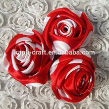 Wholesale cute handmade polka dots satin cluster flower rose flower