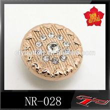 Cty- nr028 pin pulsante ribattino di cristallo per jean camicia abbigliamento decorativi