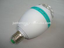 Lights Bulb Led E27 RGB 3W Rotating led mini party light