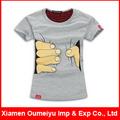 hotsale diseño de la impresión de ganchillo patrón de la camiseta