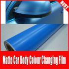 TSAUTOP hot sale RoHS certificate 1.52*30m air Free bubbles adhesive Cerulean blue matt vinyl wrap film