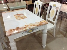 modern marble top and solid wood leg Dinning Table