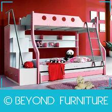 Foshan Shunde Loft Pink Slide Bunk Bed