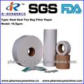 papier filtre sachet de thé pulpe fermeture à chaud 21gsm Abaca
