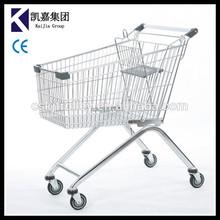 130L Eurpoean Type Supermarket Shopping cart