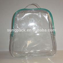 Transparent PVC hand bag with zipper