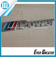 customized 3M car adhesive badge shiny chrome badges sport badge car