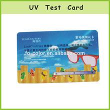 Color Changing Card UV Meter Test Card