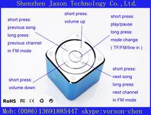 portable mini amplified card resonance speakers