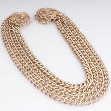 wholesale statement necklace tribal unique imitation gold jewelry