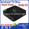 amlogic-8726 mx Google Android dvb T2 Set Top Box android 4.2 xbmc dual core hd digital tv set top box