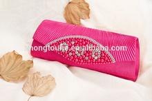 beautiful ladies satin handmade beaded handbag