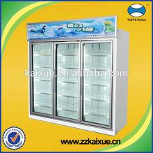 Air cooling glass door refrigerator freezer